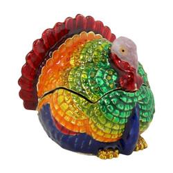 Colorful Turkey Trinket Box