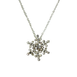 Sparkling Silver Snowflake Necklace