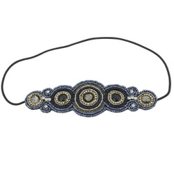 Bejeweled Invisible Lines Headband Black and Blue
