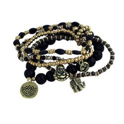 Namaste Beaded Bracelets Black