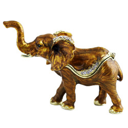 Bronze Colored Elephant Trinket Box