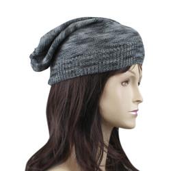 Double Weave Beanie Hat Grey