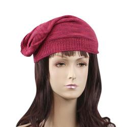 Double Weave Beanie Hat Fuchsia