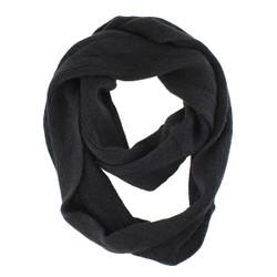 Cozy Solid Color Infinity Scarf Black