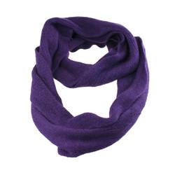 Cozy Solid Color Infinity Scarf Purple