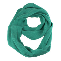 Cozy Solid Color Infinity Scarf Green