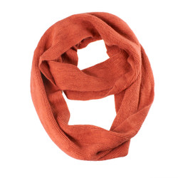 Cozy Solid Color Infinity Scarf Burnt Orange
