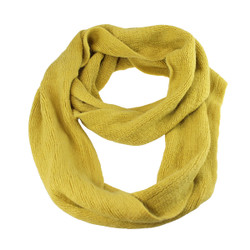 Cozy Solid Color Infinity Scarf Mustard