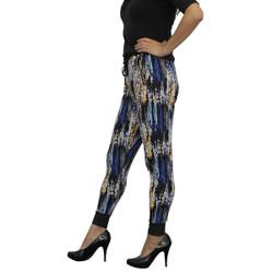 Trendy Harem Pants Monet Pattern