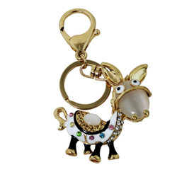 Cutie Face Donkey Key Chain and Purse Charm