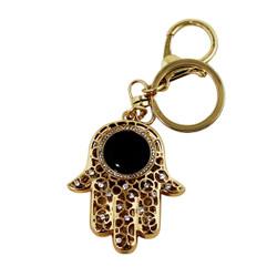 Hamsa Key Chain and Purse Charm with Infinity Stone