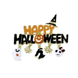 Happy Halloween Brooch