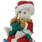 Happy Holidays Teddy Bear Knitting Green Scarf Trinket Box