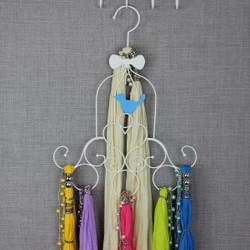 Birdcage Scarf Hanger with 6 Scarves Value Set