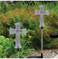 Solar Cross Garden Stake with LED Lights