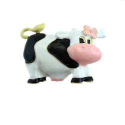 Black and White Cow Pin