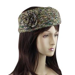 Woven Rosette Headband Green