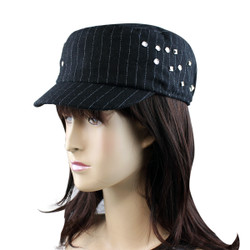 Pinstriped Revolutionary Cap with Studs