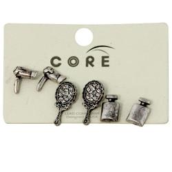 Stylist Earrings Studs Antique Silver