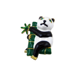Panda Sitting in Bamboo Tree Pin