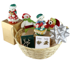 Large Pre Wrapped Christmas Basket
