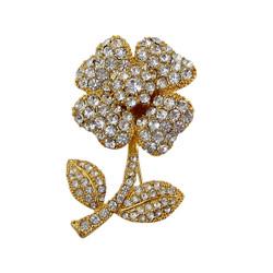 Glittering Flower Pin Pendant