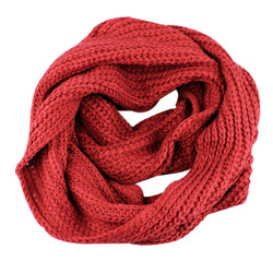 Classic Infinity Scarf Solid Color Red