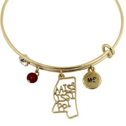 Mississippi State Charms Bangle Bracelet Gold