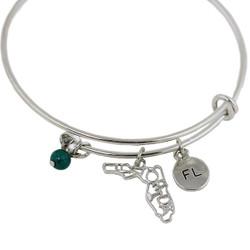 Florida State Charms Bangle Bracelet Silver