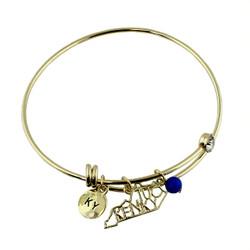 Kentucky State Charms Bangle Bracelet Gold