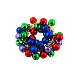 Wreath Bells Holiday Pin Multi-Color