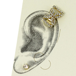 Rhinestone Bow Tie Ear Cuff Set