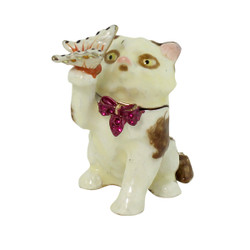 Cat Catching Butterfly Trinket Box