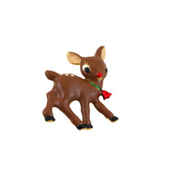 Fawn Holiday Pin Enameled