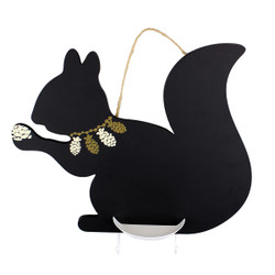 Squirrel Chalkboard with Key Hooks & Chalk Holder