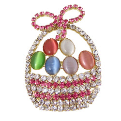 Easter Basket Brooch Crystals
