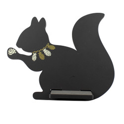 Squirrel Tablet / iPad Holder Wood Stand Black