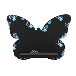 Butterfly Tablet / iPad Holder Wood Stand Black
