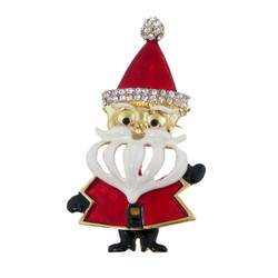 Large Jointed Santa Brooch