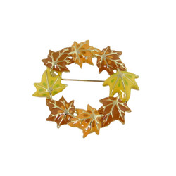 Beautiful Autum Leaves Brooch