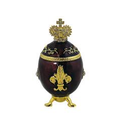 Purple Fleur De Lis Egg Trinket Box