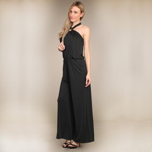 Black Jumpsuit Wide Leg