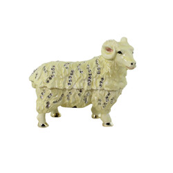 Sheep Trinket Box Bejeweled