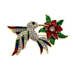 Glittering Hummingbird Brooch