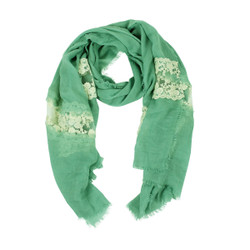 Solid Color Lace Scarf Mint