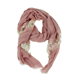 Solid Color Lace Scarf Pale Pink
