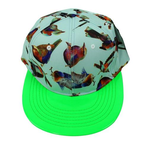 Beautiful Birds Vinyl Cap Neon Green
