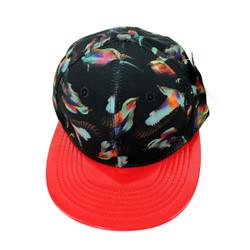 Beautiful Birds Vinyl Cap Red and Black