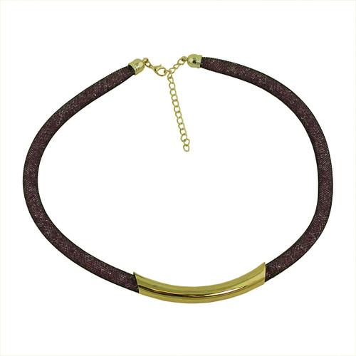 Diamond Illusion Necklace Purple and Gold