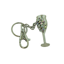 Goddess Goblet Key Chain Silver